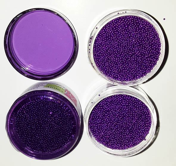 Micro beads,glass, Intense purple  10 gram pot
